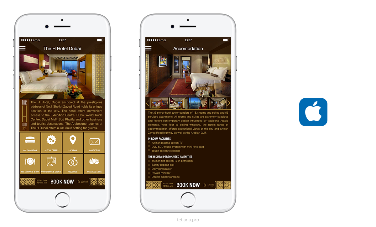Hotel promotional app